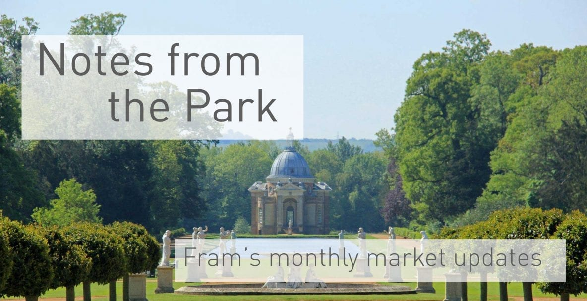 Notes from the park - monthly updates